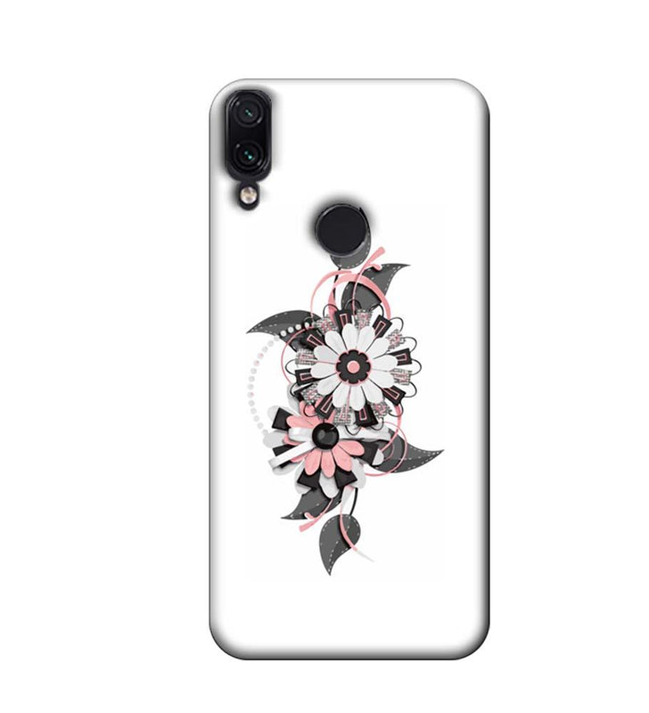 Xiaomi Redmi Note 7 Mobile Cover Printed Designer Case Floral Pattern