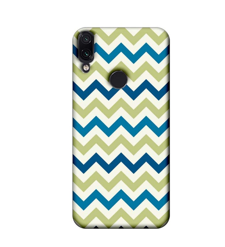 Xiaomi Redmi Note 7 Mobile Cover Printed Designer Case Light Green Zigzag Stripes