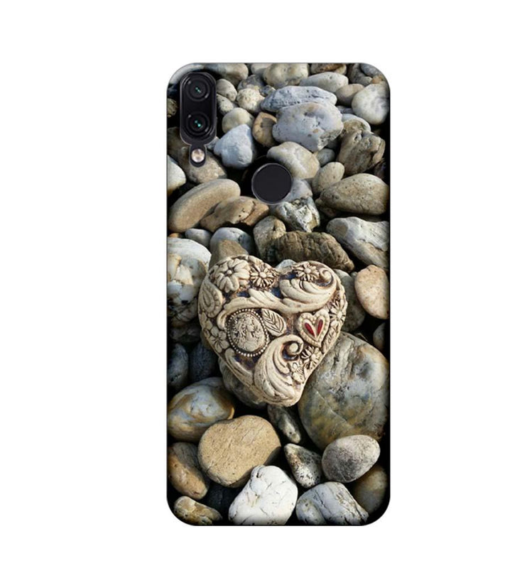 Xiaomi Redmi Note 7 Mobile Cover Printed Designer Case Heart Stone