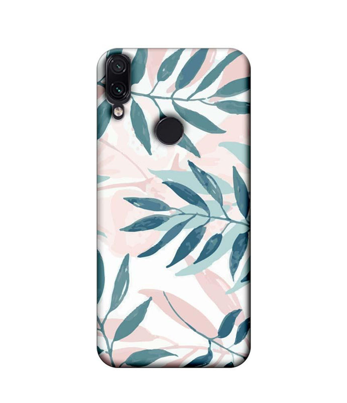 Xiaomi Redmi Note 7 Pro Mobile Cover Printed Designer Case illustrator Leaves