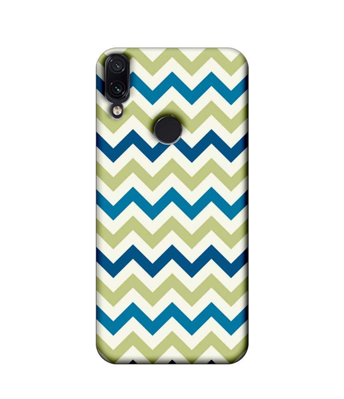 Xiaomi Redmi Note 7 Pro Mobile Cover Printed Designer Case Light Green Zigzag Stripes