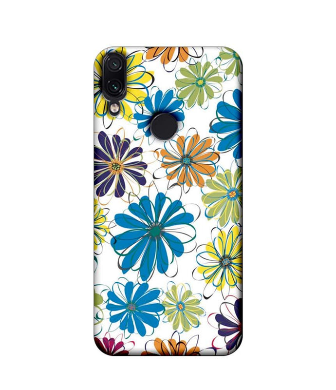 Xiaomi Redmi Note 7 Pro Mobile Cover Printed Designer Case Floral Pattern three