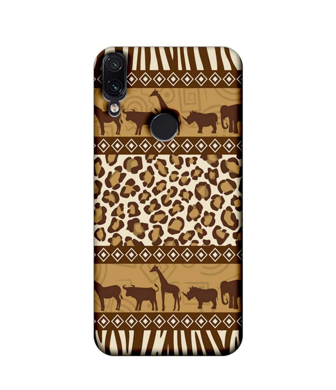 Xiaomi Redmi Note 7 Pro Mobile Cover Printed Designer Case Indian Art Animals