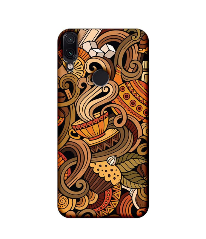 Xiaomi Redmi Note 7 Pro Mobile Cover Printed Designer Case Coffee Cup Art
