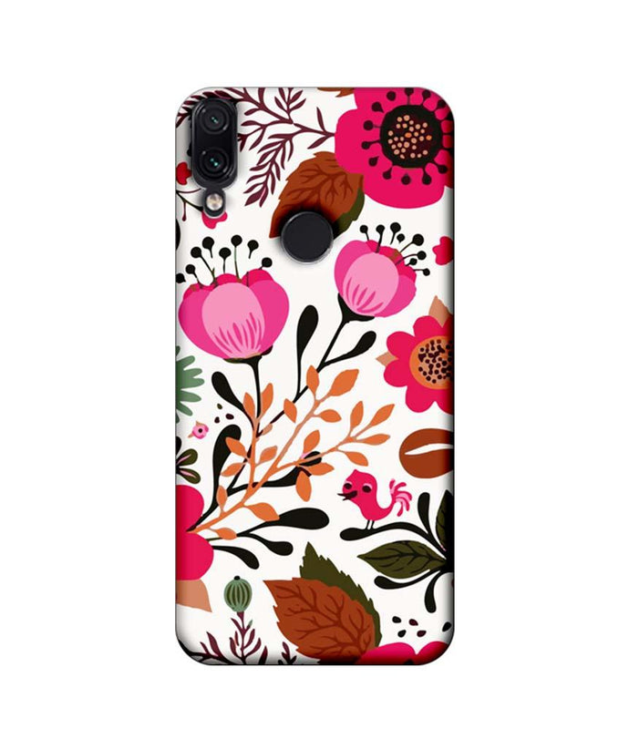 Xiaomi Redmi Note 7 Pro Mobile Cover Printed Designer Case Flower Art