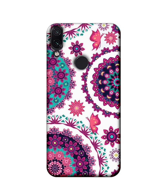 Xiaomi Redmi Note 7 Pro Mobile Cover Printed Designer Case Circle Pattern