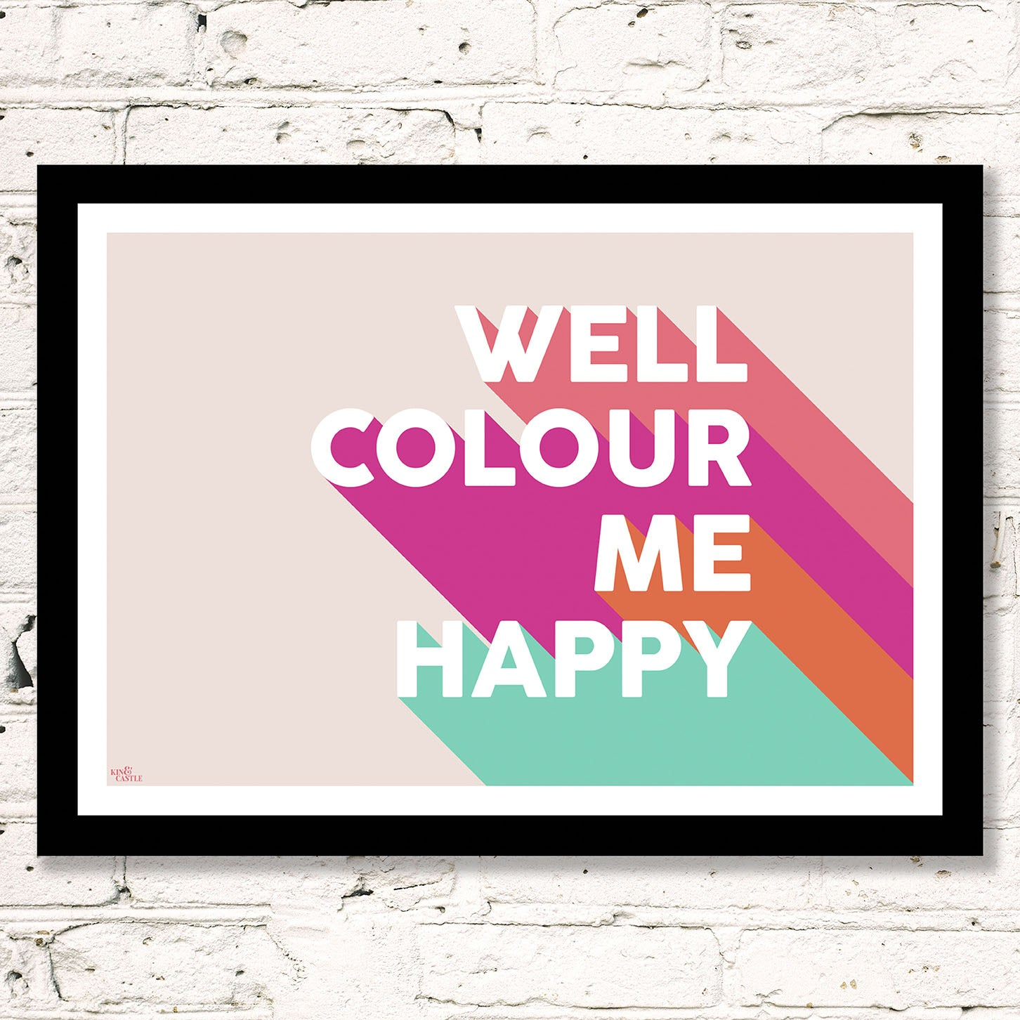 Colour Me Happy Art Print (pinks & mint)