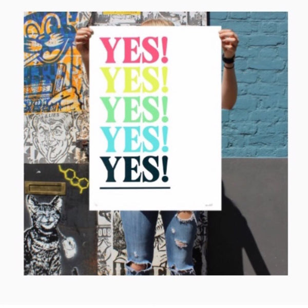 YES! Limited Edition PRINT CLUB LONDON Screen Print (not sold out - click thru!)