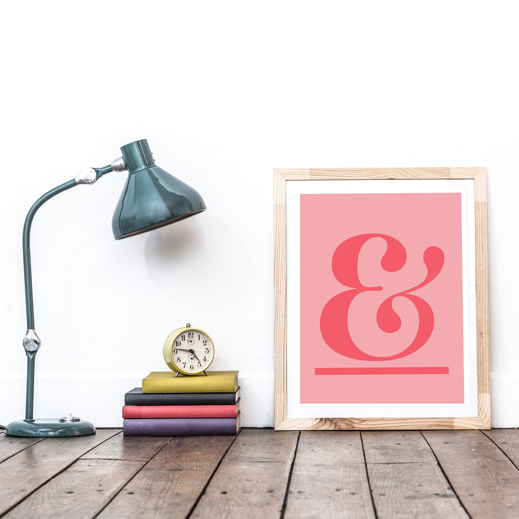 ampersand (coral on pink)