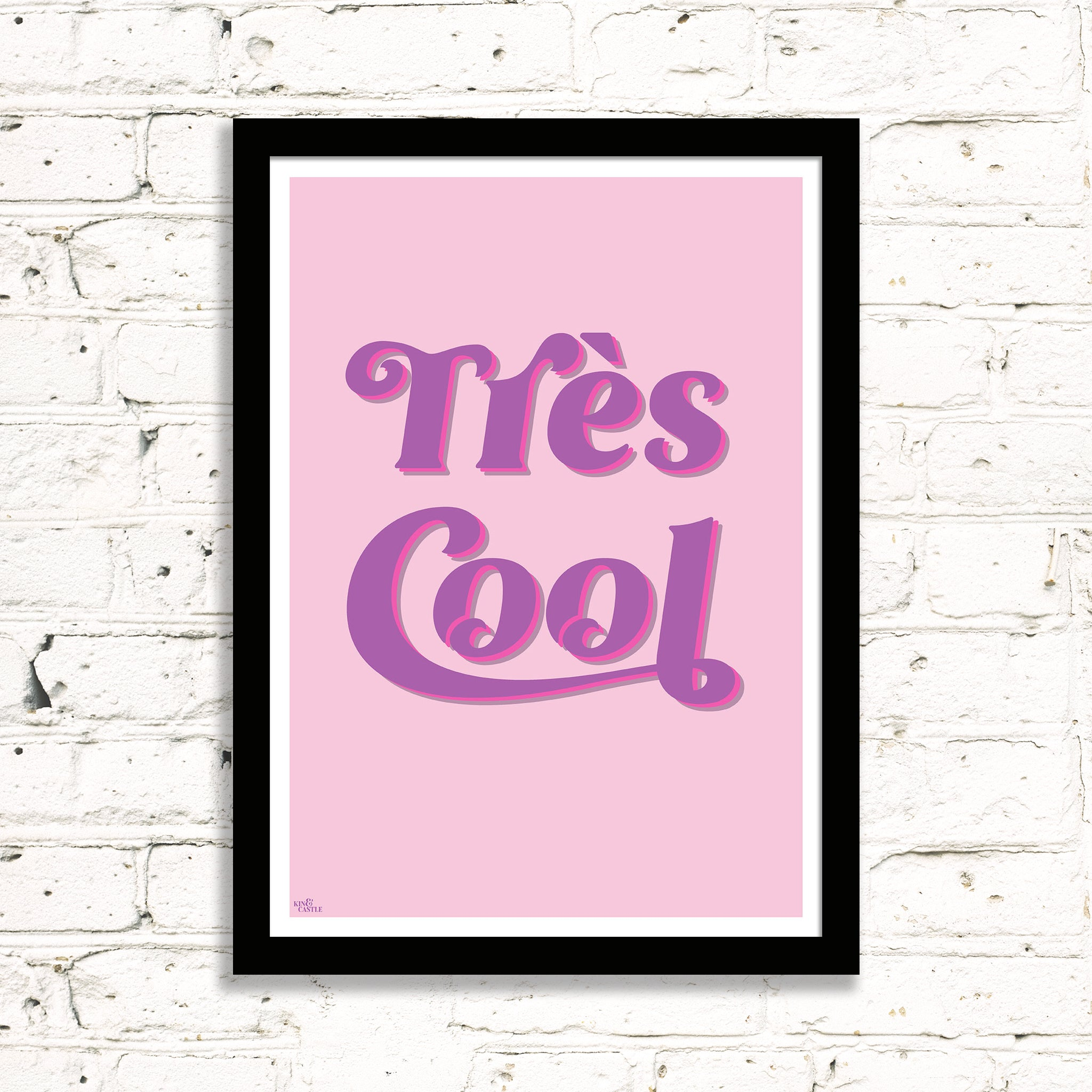 Très Cool Art Print (bubblegum pinks)