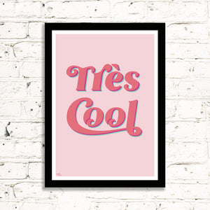 Très Cool (Coral & Mint) Art Print