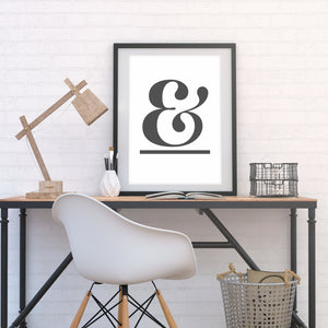 Ampersand Art Print (graphite on white)