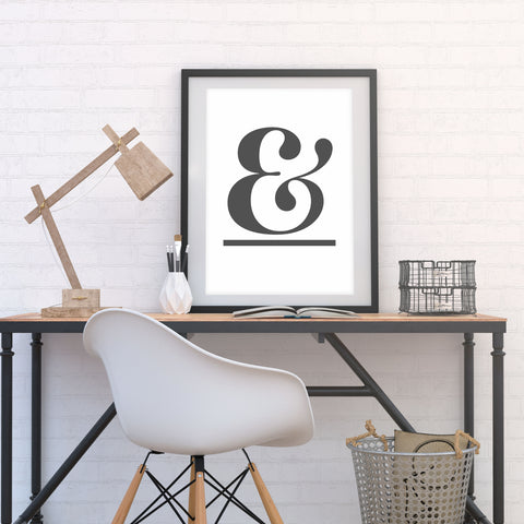 ampersand (graphite on white)