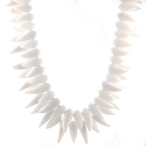 Mark Spirito tribal necklace in frosted quartz