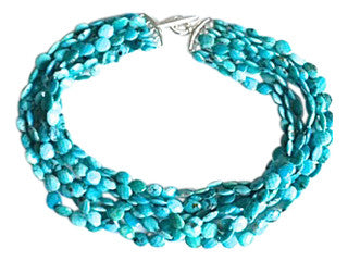Multi Strand Mexican Turquoise necklace