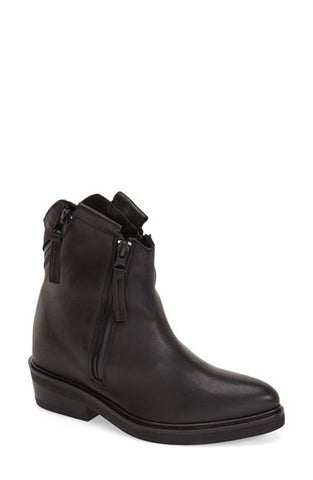 Ankle Boot with Multi Zips
