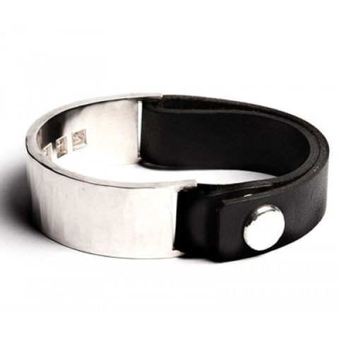 Werkstatt leather and sterling bracelet