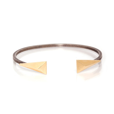 Gold and Silver Open Cuff