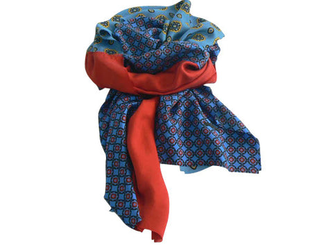 Mixed Foulard Pattern Silk Scarf