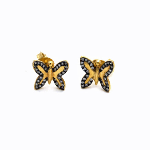 Pade Vavra 18k butterfly studs with diamonds
