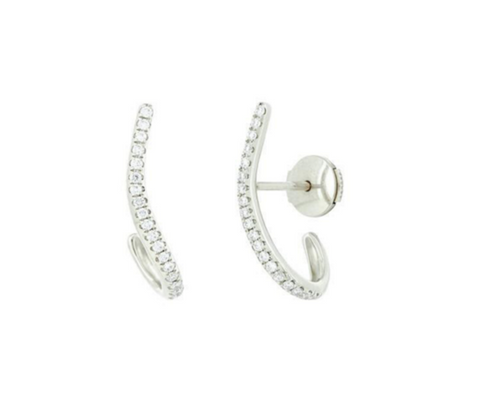 Line Earring in White Gold and Diamonds