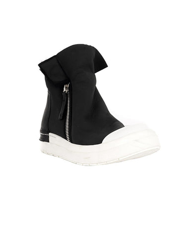 Black and White Cap Toe Sneaker