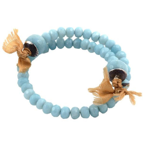 Orduna coiled bracelet in amazonite