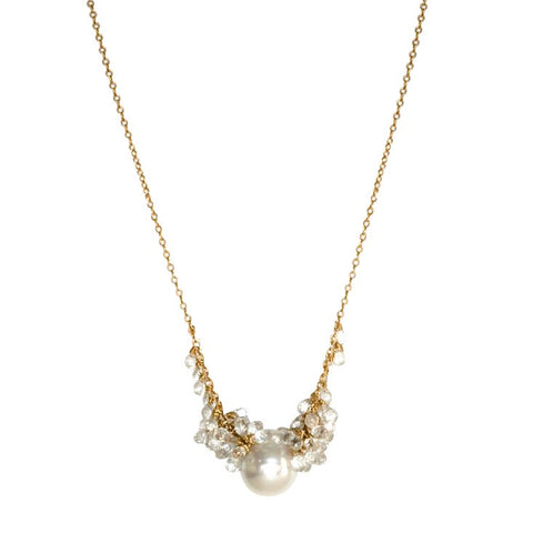 Australian White Pearl Gold Necklace