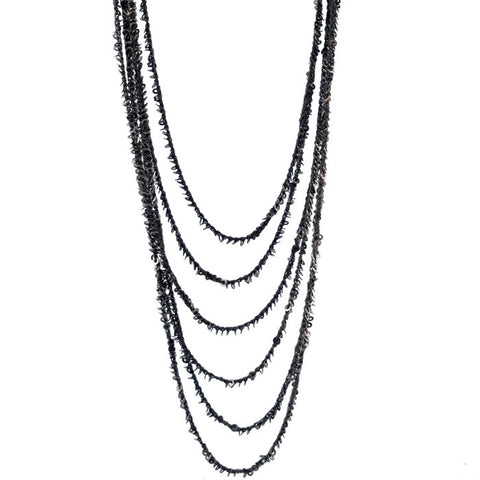Goti nested sterling chains long necklace