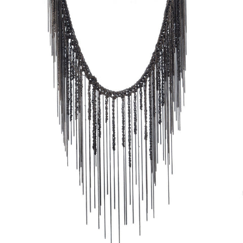 Goti drapy sterling fringe necklace