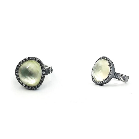 Mother of Pearl and White Diamond Ring