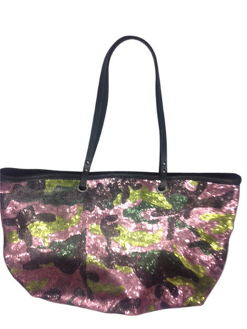 Camo Sequined Tote