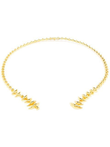 Fish Skeleton Choker in 18kt Vermeil