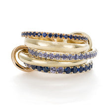 Atlas Blue Stacking Rings