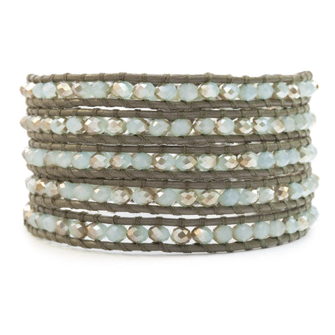 Mint Crystal Wrap Bracelet
