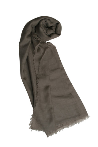 Geranio  Solid Color Scarf in Taupe