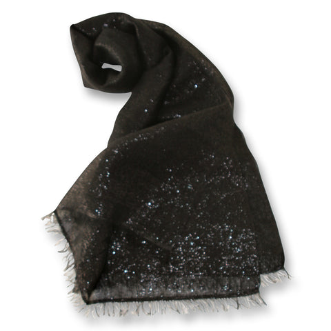 Sparkle Linen Scarf in Black