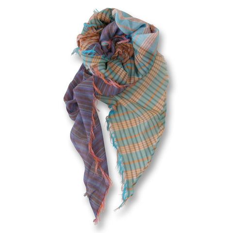 Patchwork Plaid Scarf in Brights