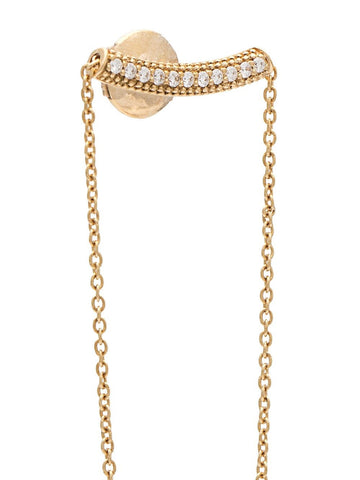 Diamond and Gold Chain Earring