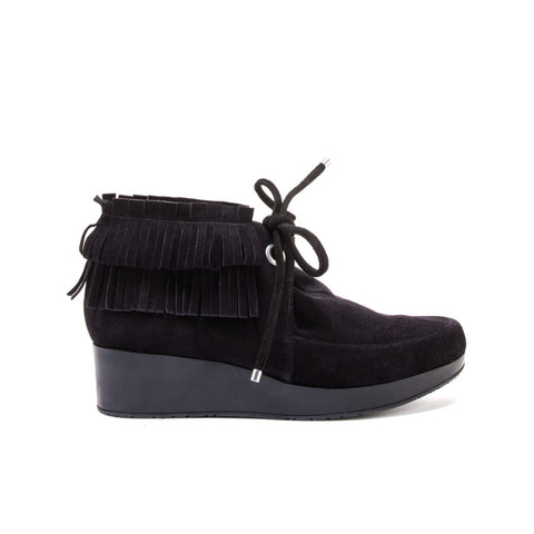 Naim Suede and Fringe Ankle Boot