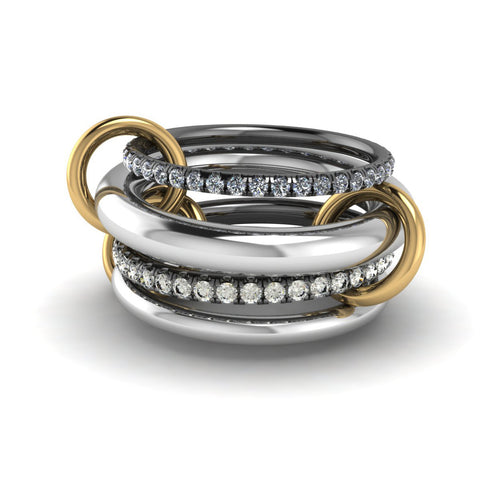 Pegasus Linked Stacked Rings