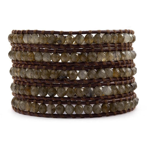 Chan Luu labradorite and brown leather
