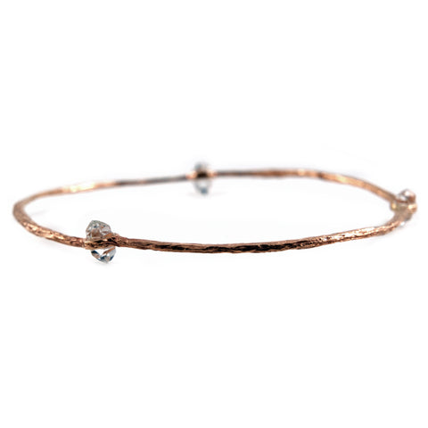 Etched Herkimer Diamond Bangle
