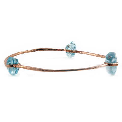 Bangle with Aquamarine Stones