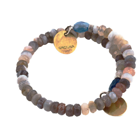 Beth Orduna mixed agate beaded bracelet