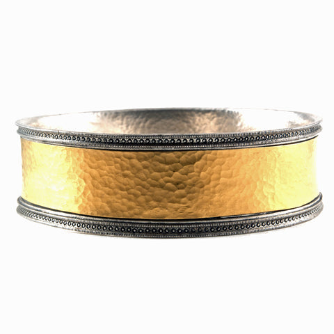 Gurhan wide bangle in 24k gold and sterling