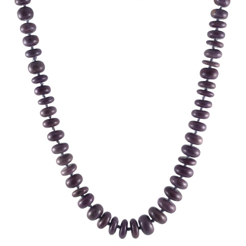 Purple Jade Rondelle Necklace