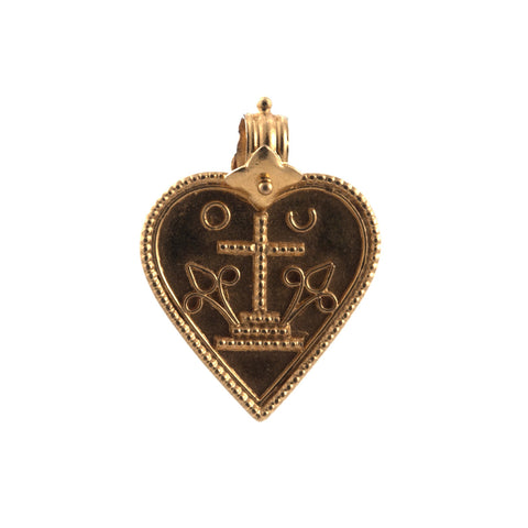 Lena Skadegard 22k gold filagree heart with bale