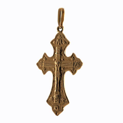 Lena Skadegard 22k gold filagree cross charm