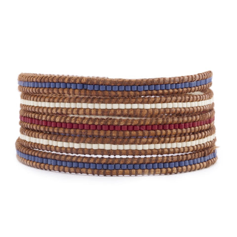 Chan Luu Red White and Blue Bracelet